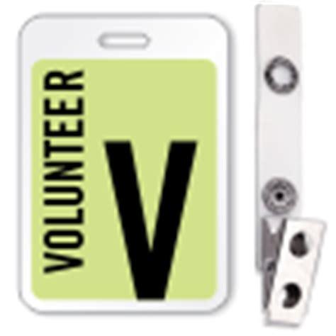 volunteer id card template buy volunteer reusable id name badge lowest prices on