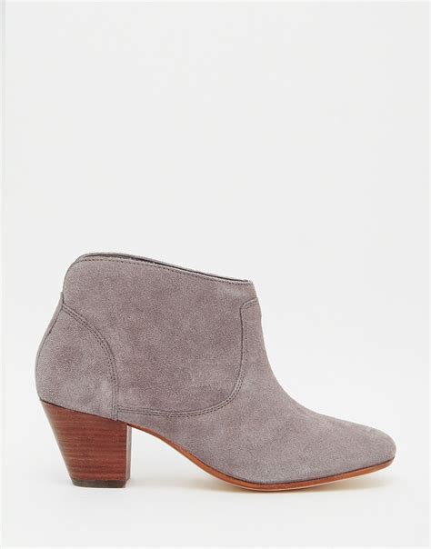 grey suede boots lyst h by hudson kivar grey suede ankle boots grey in
