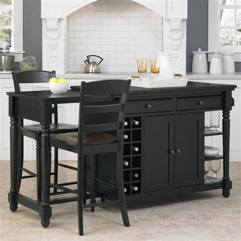 Kitchen Stools For Islands by Home Styles Grand Torino Kitchen Island Two Stools By Oj