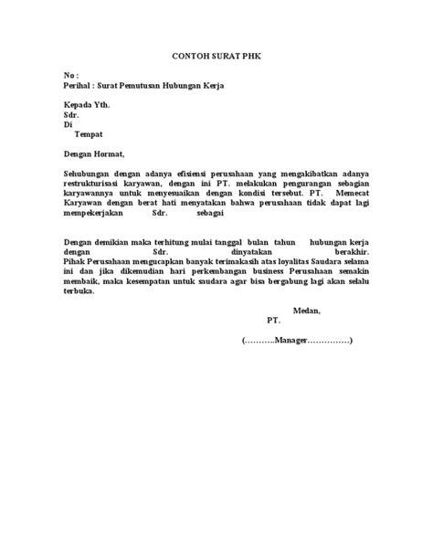 contoh surat phk