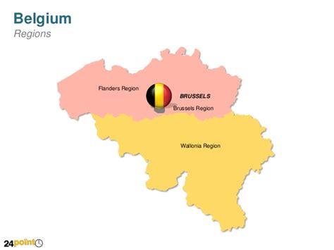 regions of belgium map easy to edit ppt map of belgium