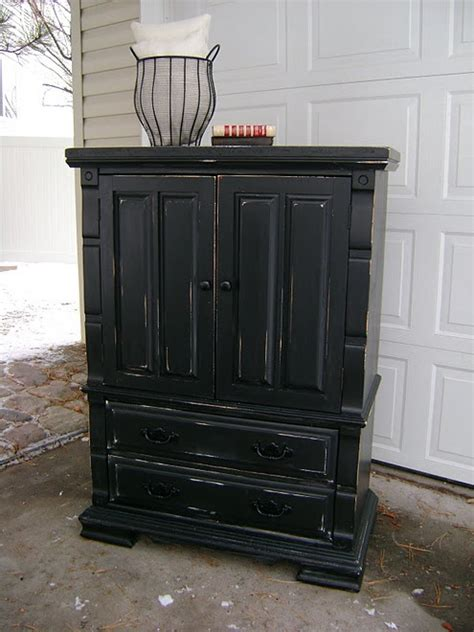distressed armoire furniture black distressed furniture paint the world pinterest