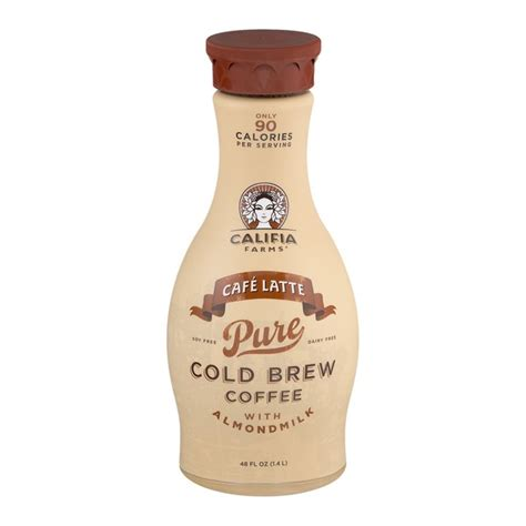 Cold Brew Cafe Latte 250 Ml Califia Farms Cafe Latte Cold Brew Coffee With Almondmilk