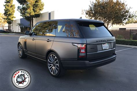 wrapped range rover range rover wrapped in 3m matte gray wrap bullys