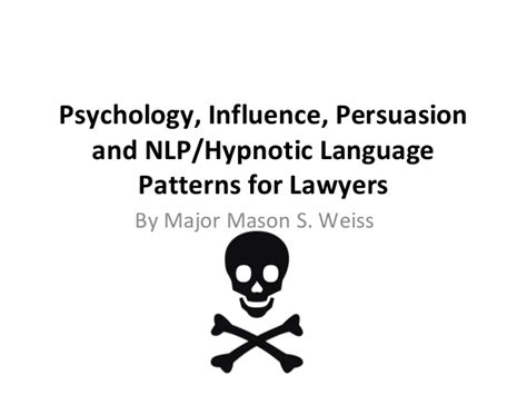 pattern language influence revised psychology influence persuasion and nlp tds version