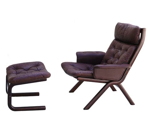 Modern Leather Ottoman Modern Leather Sculptural Sling Lounge Chair And Ottoman For Sale At 1stdibs