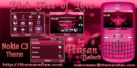 nokia x2 heart themes nokia c3 pink themes free download