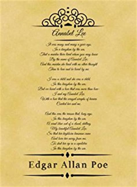 annabel lee by edgar allan poe a4 size parchment poster classic poem edgar allan poe
