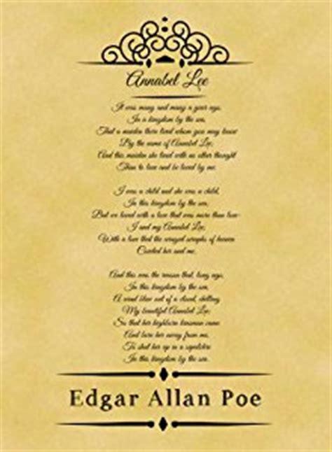 annabel lee by edgar allan poe a4 size parchment poster classic poem edgar allan poe