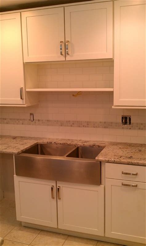 kitchen backsplash white 3x6 subway tile white