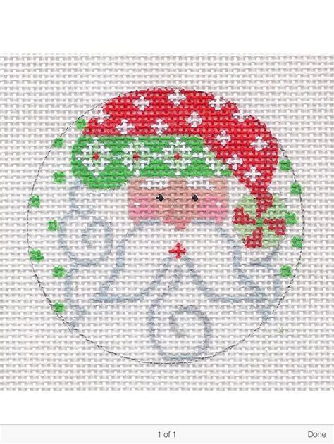 christmas needlepoint pattern 496 best needlepoint ornaments santa images on pinterest