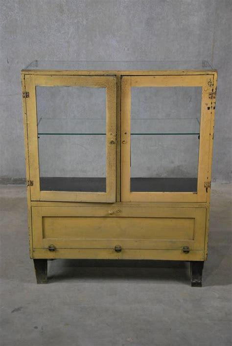 1930s Glass Display Cabinet by 1930 Mercantile Glass Display Cabinet For Sale At 1stdibs