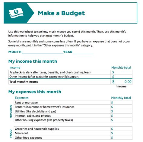 make a template 9 useful budget worksheets that are 100 free