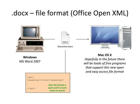 format file docx ppt introduction to xml powerpoint presentation id 4365977