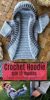 Baby knitting patterns 12 month infant hoodie free crochet pattern