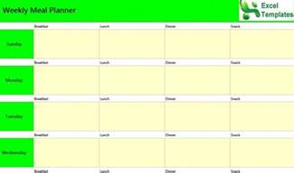 Day Planner Template Excel Weekly Meal Planner Excel Template Weekly Meal Planner