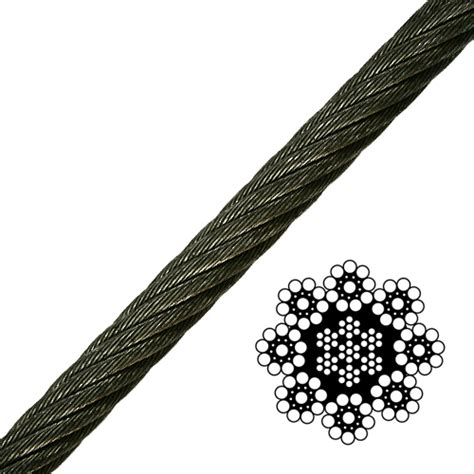3 8 wire rope strength 3 4 quot 8 strand spin resistant wire rope 51800 lbs breaking strength