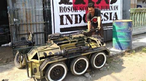 Modifikasi Vespa Matik by Vespa Tank Buatan Yogi Hermawan Seharga Motor Matik Bekas