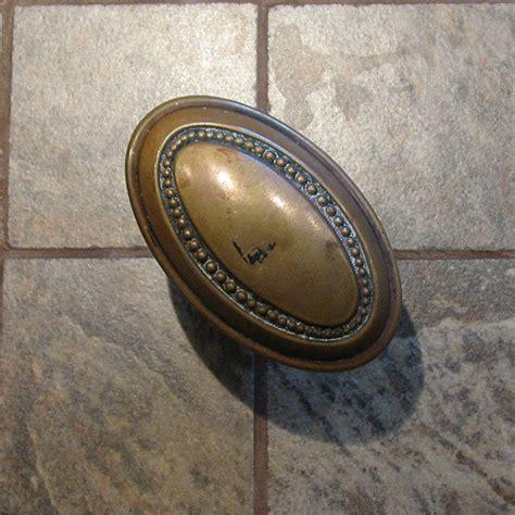 Oval Brass Door Knobs by Vintage Door Knob Oval Brass Beaded Doorknob