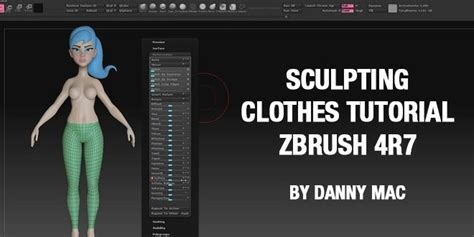tutorial zbrush r7 sculpting clothes tutorial zbrush 4r7 by danny mac