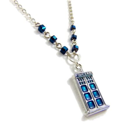 doctor who jewelry box necklace geeky mcfangirl