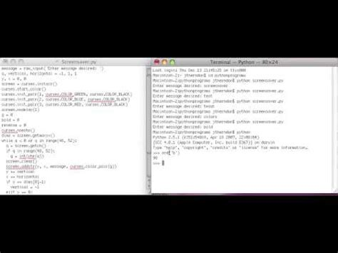 tutorial python package python curses tutorial 9 combining attributes youtube