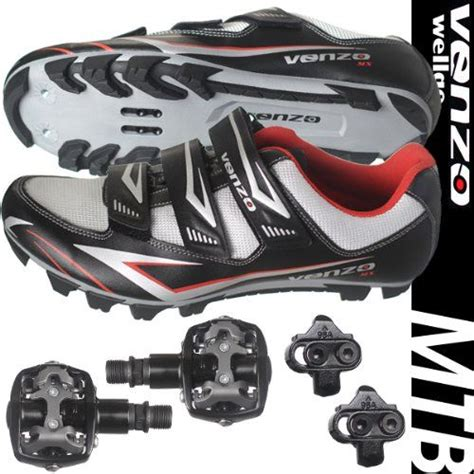 bike pedal shoes venzo mountain bike bicycle cycling shimano spd shoes