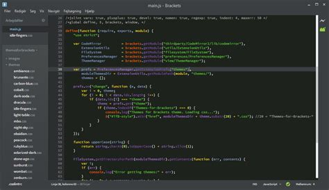 themes brackets editor jacse themes for brackets popular themepack for brackets