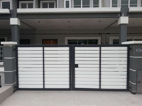 House Texture stainless steel automatic gate auto main gate design
