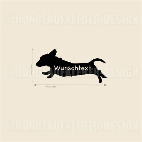 Wunschtext Aufkleber by Rauhaardackel Autoaufkleber Mit Wunschtext Hundename