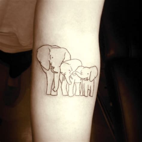 simple elephant tattoo designs 69 meaningful family tattoos designs mens craze