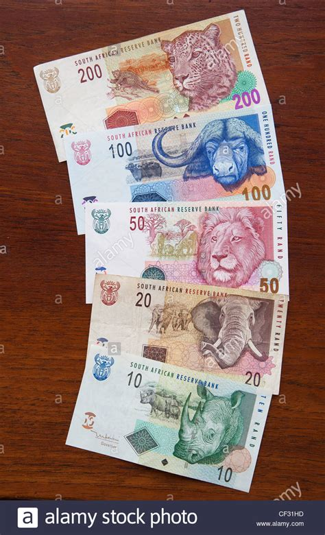 currency zar south banknotes various denominations from 10 to
