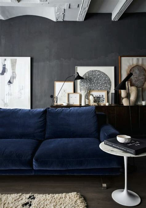blue walls grey couch colorful wall color to choose for your very personal