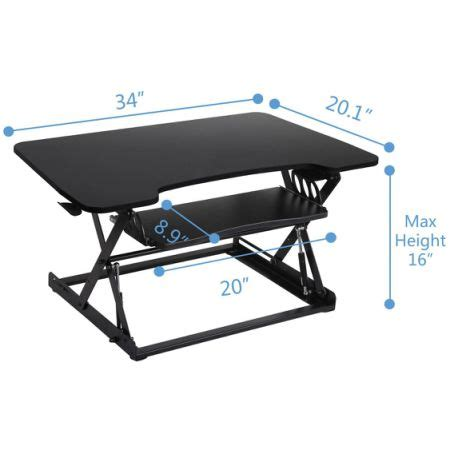 retractable stand up desk shop for fitmate standing desk converter 34 quot height