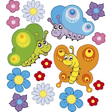 imagenes de flores animadas infantiles pack mariposas y flores vinilos infantiles