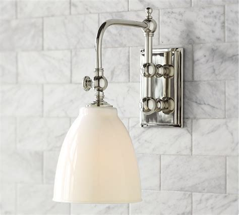 sconce lighting for bathroom potential sconce pottery barn bathrooms pinterest