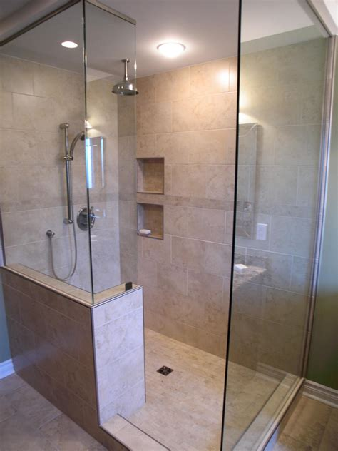 bathroom showers ideas walk in shower ideas remodeling contractor talk