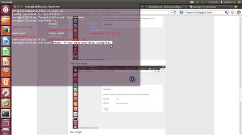 membuat hak akses phpmyadmin membuat website dengan wordpress di linux mint we learn