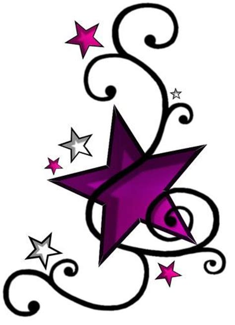 stars and swirls tattoo designs and swirls tattoos clipart best