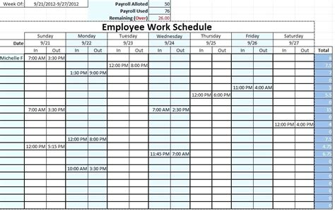 How To Make A Work Schedule Employee Weekly Work Schedule Work Schedule App For Windows Sle Work Schedule Template