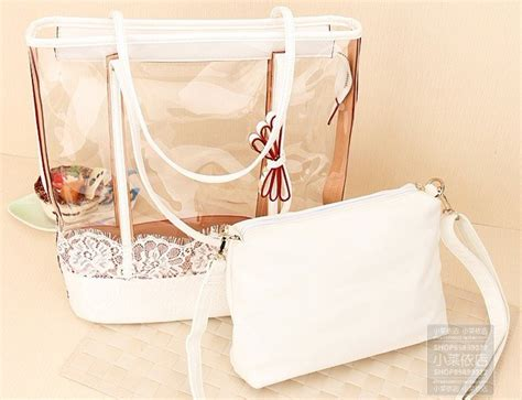 Florry Korean Bag Two In One summer new arrival free shipping clear pvc bag two