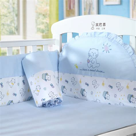 baby blue bedding blue kitten piece set baby bedding kit bed sheets bed by bed around piece set c