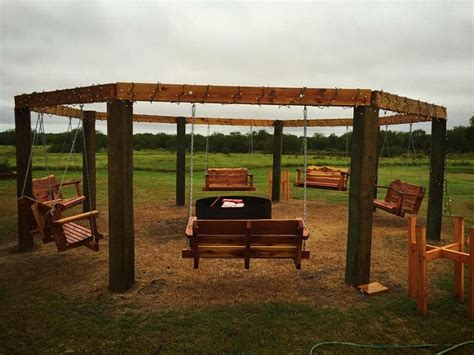 fire pit with swings amazing porch swing fire pit designs ideas