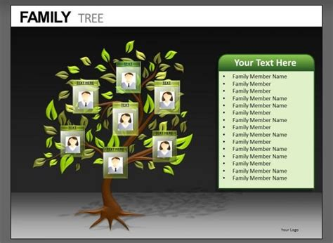 Family Tree Templates For Powerpoint Invitation Template Family Powerpoint Templates