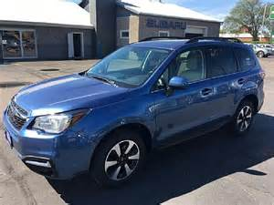 subaru forester 2017 quartz blue 2017 subaru forester 2 5i limited with starlink for sale