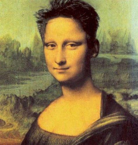 is lisa on la hair a man mona lisa gioconda funny divertente 22