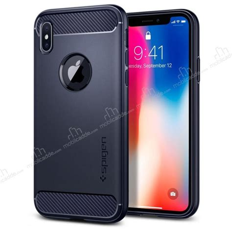 Spigen Rugged Armor Iphone X Blue spigen rugged armor iphone x ultra koruma midnight blue kılıf