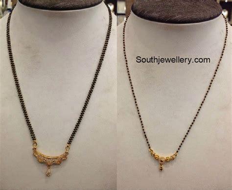 gold black chain designs black mangalsutra designs jewellery designs