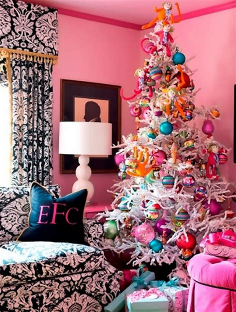 cute themes com cute and beautiful pink christmas tree decorations