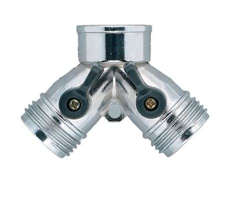 Kitchen Faucet Splitter by Orbit Metal Hose Y Amp Water Faucet Shut Off Valves Hose